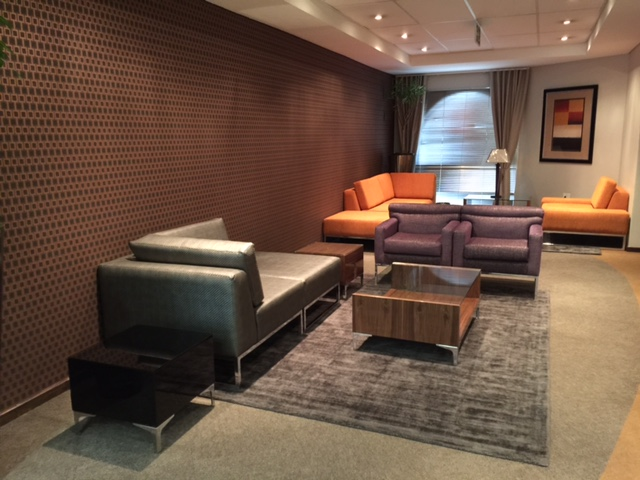 Bankserve lounge area and sofas