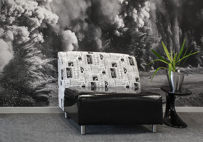 Waiting-room, reception explosion couch