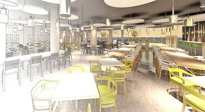 UNISA canteens furniture and interior design