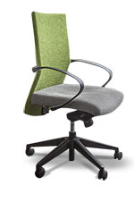 Office desk chair in Transnet corporate red