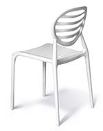 Cubicle chair in neutral white