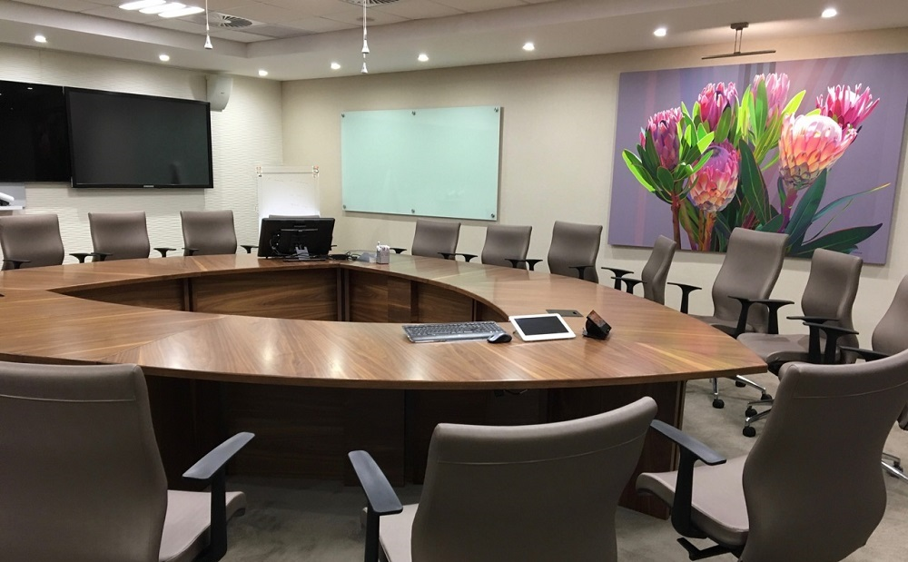 Rectangular Boardroom Table Image
