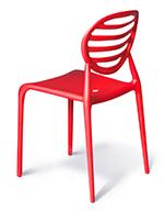 Kitchen chair in corporate red