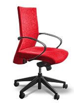 Office Desk Chair in Corporate Red