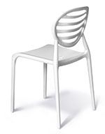 White cubical chair