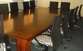 Cherry Veneer Rectangular Boardroom Table Image