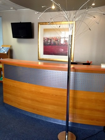 Oval Wooden Reception Image