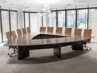 Triangular Boardroom and Chairs Image