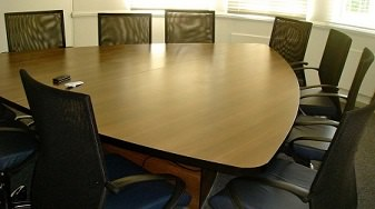 Triangular Boardroom Table Image
