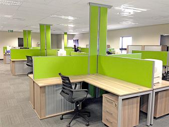 Cluster desk workstations