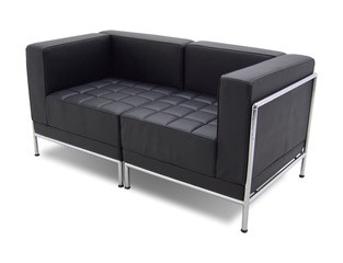 Bonded leather chairs and couches with Chrome frame Image