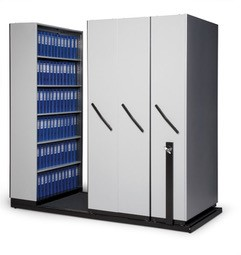 Bulk storage unit - 4 bays and lockable with steel inner shelving Image