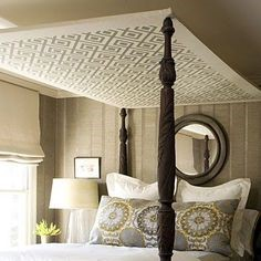 Bedroom with bed canopy integrated with Double Bed Image