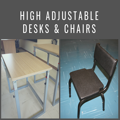 Height Adjustable Desks and Chairs Image