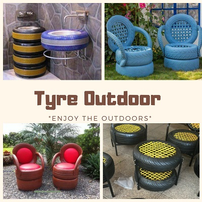 Outdoor Tyre Furniture Image