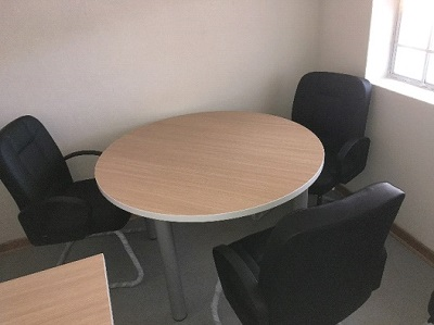 Administration round table and chairs