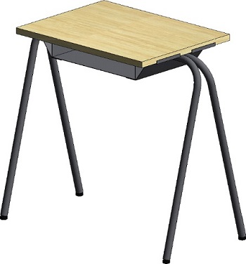 Exam table with book storage