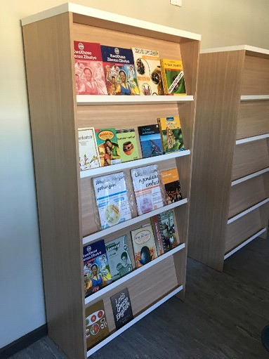 Library cabinet for books