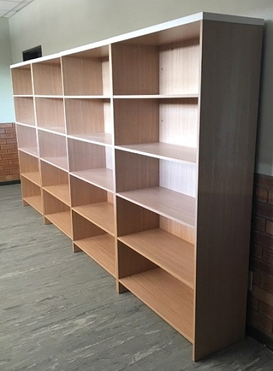 Library storage unit for books