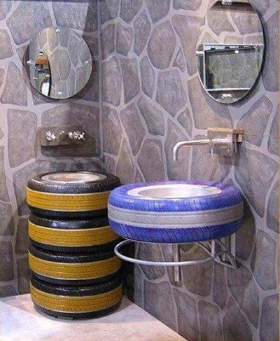 Tyre mixer bowls for toilet