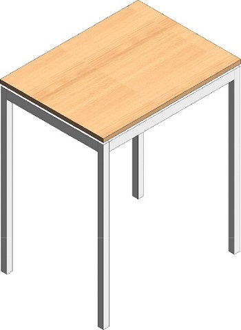 Single exam table