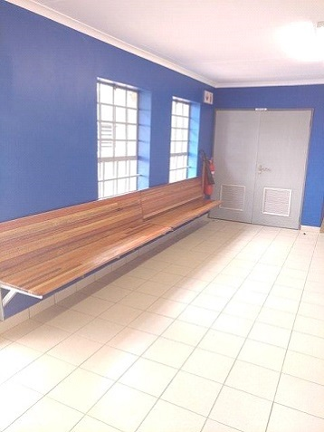 Wall mounted school bench