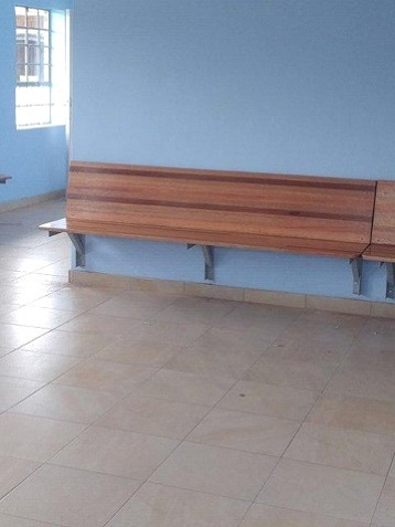 Wall mounted school benches