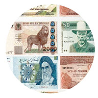 International currency style wall paper
